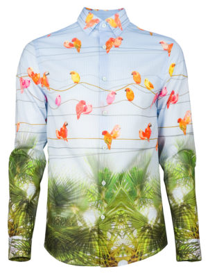 Herrenhemd Birdy - Paul von Alpen - fashion shirt - extravagante Hemden