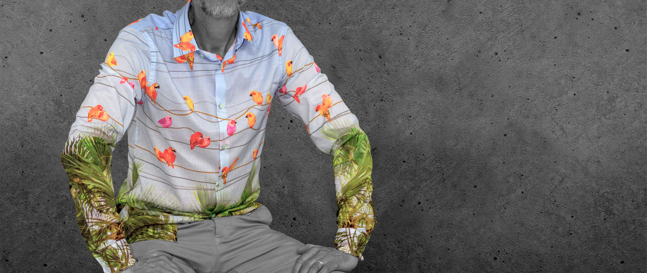 Extravagantes Herrenhemd Birdy - Paul von Alpen - extraordinary shirts