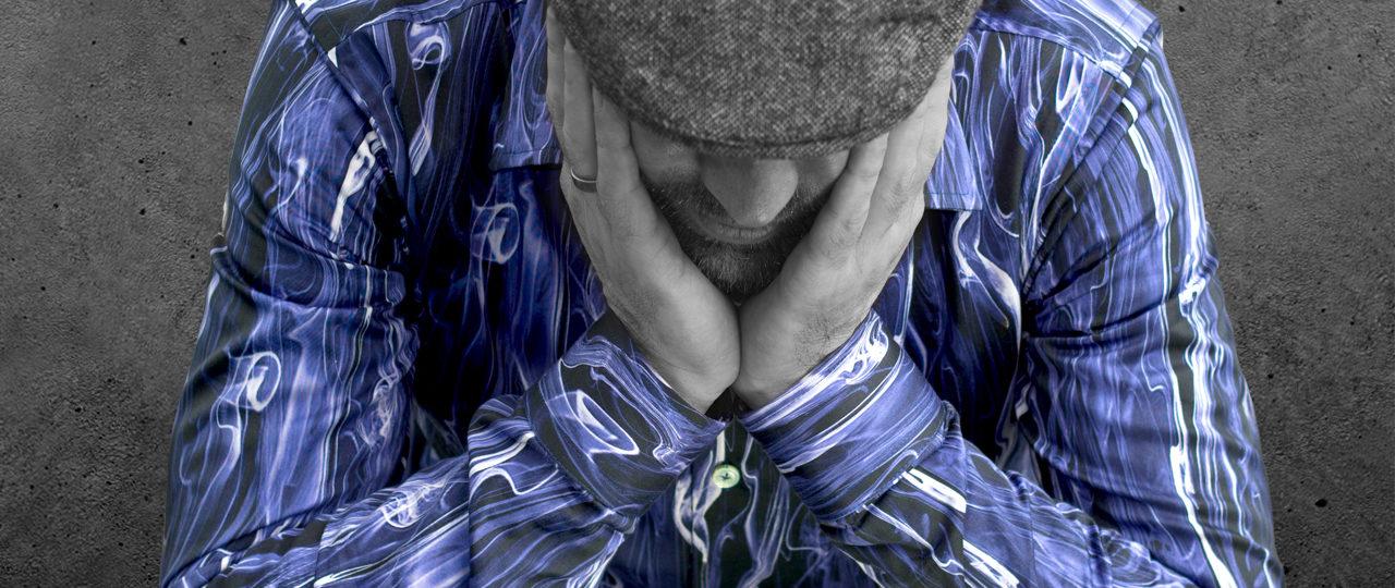 Außergewöhnliches Herrenhemd Blue Smoke - Paul von Alpen - unusual shirts