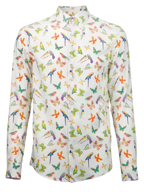 Sommerhemd Butterfly Summer - Paul von Alpen - designer shirt