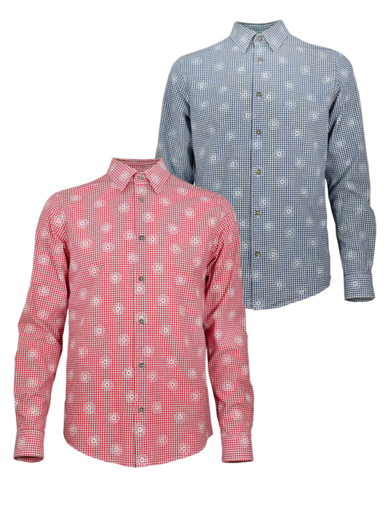 Mountain Flower - Paul von Alpen - Oktoberfest - zünftiges Trachtenhemd - Traditional Shirt