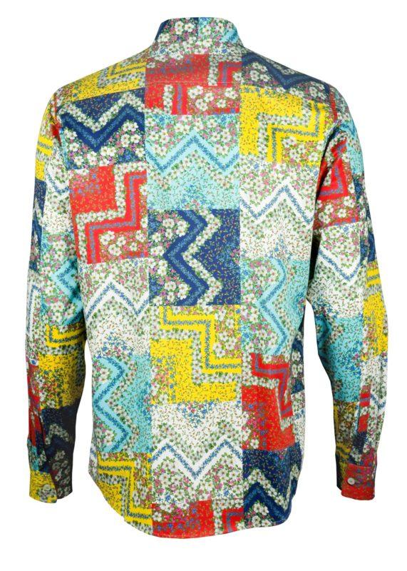 Farbenprächtige Herrenhemd Square Flowers - Paul von Alpen - colorful shirt