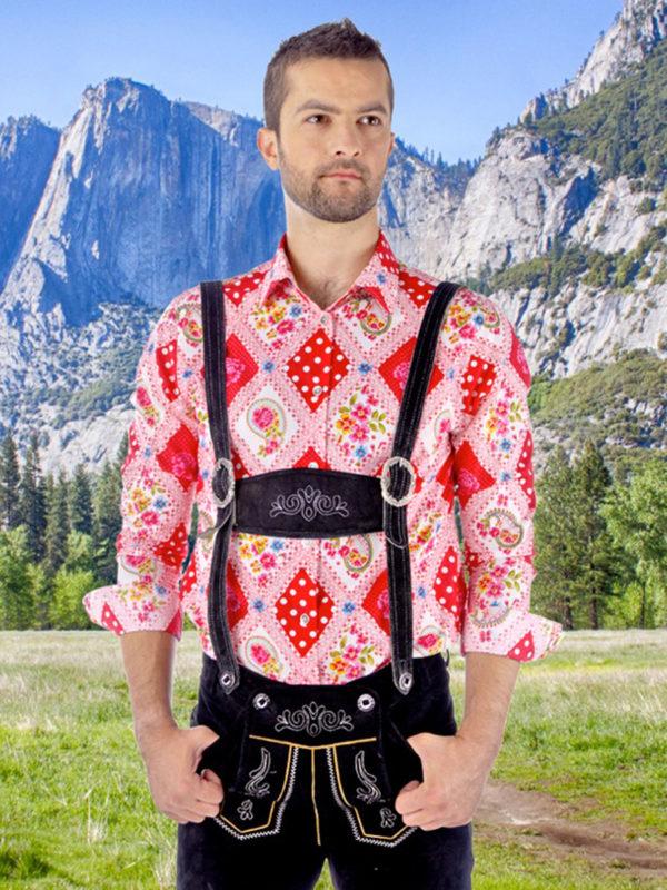 Trachtenhemd Slimfit King of Bavaria - Paul von Alpen - Oktoberfest Hemd - fashion shirts - Oktoberfest Shirt